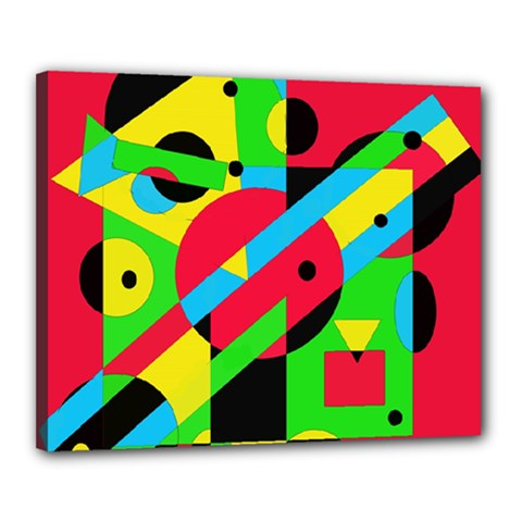Colorful geometrical abstraction Canvas 20  x 16