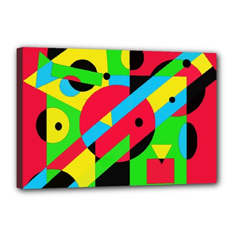 Colorful geometrical abstraction Canvas 18  x 12