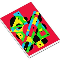 Colorful geometrical abstraction Large Memo Pads