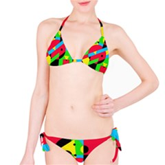 Colorful geometrical abstraction Bikini Set