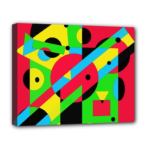 Colorful geometrical abstraction Deluxe Canvas 20  x 16