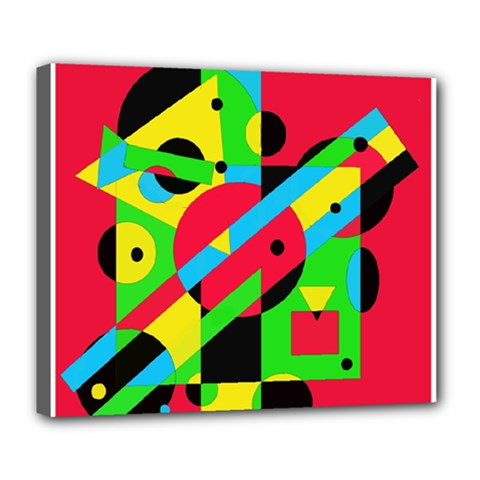 Colorful geometrical abstraction Deluxe Canvas 24  x 20