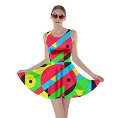 Colorful geometrical abstraction Skater Dress