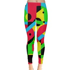 Colorful geometrical abstraction Leggings