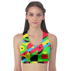 Colorful geometrical abstraction Sports Bra