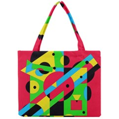 Colorful geometrical abstraction Mini Tote Bag