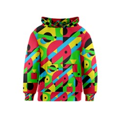 Colorful geometrical abstraction Kids  Pullover Hoodie