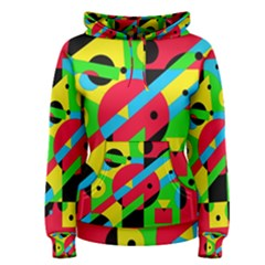 Colorful geometrical abstraction Women s Pullover Hoodie