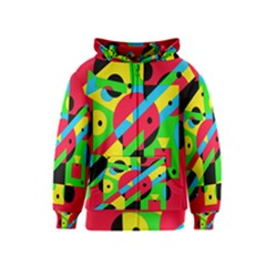 Colorful geometrical abstraction Kids  Zipper Hoodie