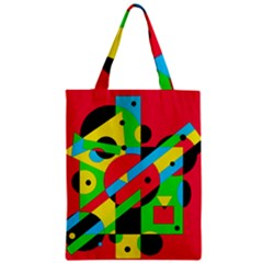 Colorful geometrical abstraction Zipper Classic Tote Bag