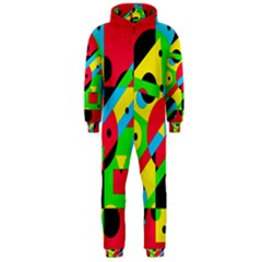 Colorful geometrical abstraction Hooded Jumpsuit (Men)