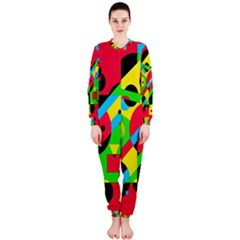 Colorful geometrical abstraction OnePiece Jumpsuit (Ladies)