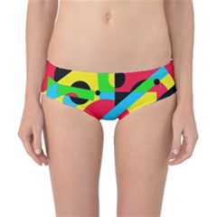 Colorful geometrical abstraction Classic Bikini Bottoms