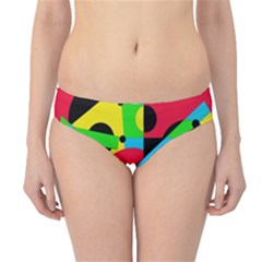 Colorful geometrical abstraction Hipster Bikini Bottoms