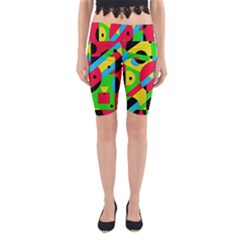 Colorful geometrical abstraction Yoga Cropped Leggings