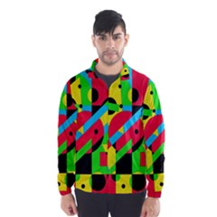 Colorful geometrical abstraction Wind Breaker (Men)