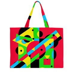Colorful geometrical abstraction Large Tote Bag
