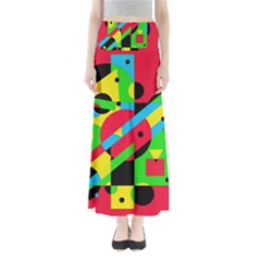 Colorful Geometrical Abstraction Maxi Skirts