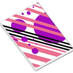 Purple lines and circles Large Memo Pads