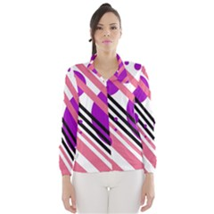 Purple lines and circles Wind Breaker (Women)