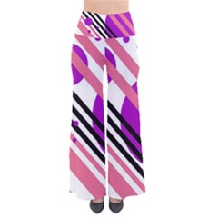 Purple lines and circles Pants