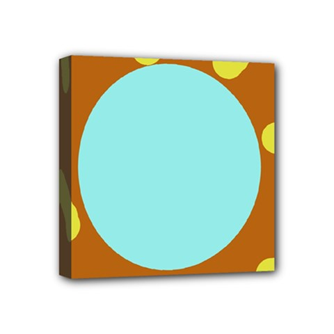 Abstract sun Mini Canvas 4  x 4