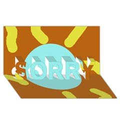 Abstract sun SORRY 3D Greeting Card (8x4)
