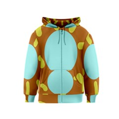 Abstract sun Kids  Zipper Hoodie