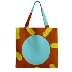 Abstract sun Zipper Grocery Tote Bag