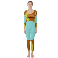 Abstract sun Long Sleeve Catsuit