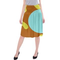 Abstract sun Midi Beach Skirt