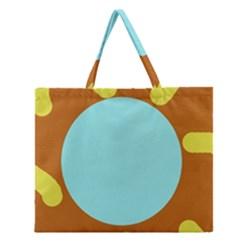 Abstract Sun Zipper Large Tote Bag