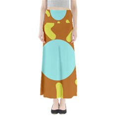 Abstract sun Maxi Skirts