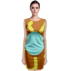 Abstract sun Classic Sleeveless Midi Dress