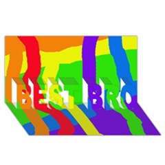 Rainbow abstraction BEST BRO 3D Greeting Card (8x4)