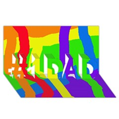 Rainbow abstraction #1 DAD 3D Greeting Card (8x4)