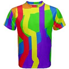 Rainbow abstraction Men s Cotton Tee