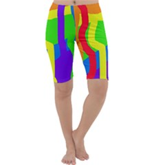 Rainbow Abstraction Cropped Leggings