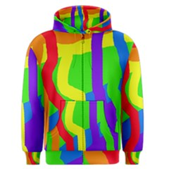 Rainbow abstraction Men s Zipper Hoodie