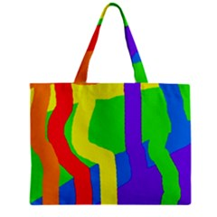 Rainbow abstraction Zipper Mini Tote Bag