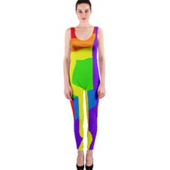 Rainbow abstraction OnePiece Catsuit