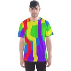 Rainbow abstraction Men s Sport Mesh Tee