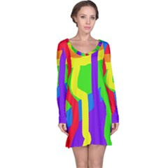 Rainbow abstraction Long Sleeve Nightdress