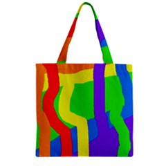 Rainbow abstraction Zipper Grocery Tote Bag