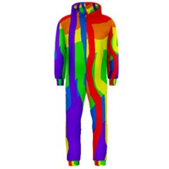Rainbow abstraction Hooded Jumpsuit (Men)
