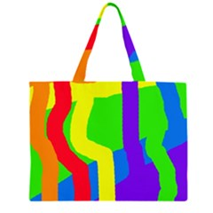 Rainbow abstraction Large Tote Bag