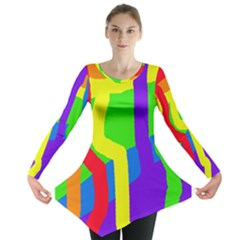 Rainbow Abstraction Long Sleeve Tunic
