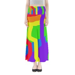 Rainbow abstraction Maxi Skirts