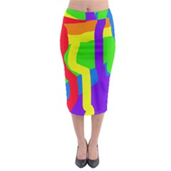 Rainbow abstraction Midi Pencil Skirt