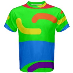 Rainbow abstraction Men s Cotton Tee